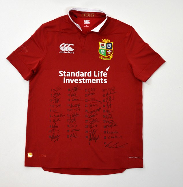 Signed Lions Jersey